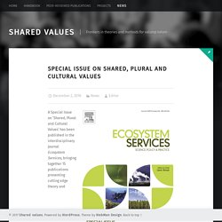 Special Issue on Shared, Plural and Cultural Values – Shared values