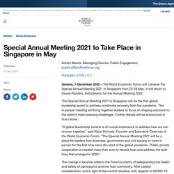 World Economic Forum Special Annual Meeting 2021