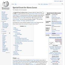 SCSL Wiki Summary