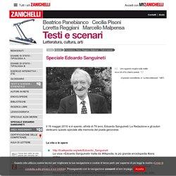 Speciale Edoardo Sanguineti « Panebianco, Pisoni, Reggiani, Malpensa – Testi e scenari