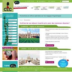 Promos et offres spéciales sur les voyages linguistiques CLC