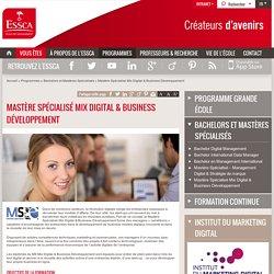 Mastère Spécialisé Mix Digital & Business Développement - ESSCA