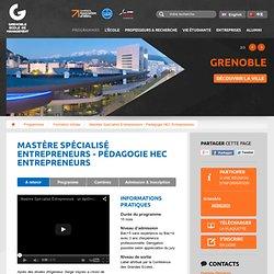 Mastère spécialisé Entrepreneurs ESC - Grenoble Ecole Supérieure de Commerce