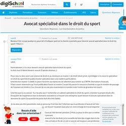 Avocat spécialisé dans le droit du sport - Les fonctionnaires de justice
