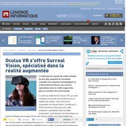 Oculus VR s'offre Surreal Vision, spécialisé dans la réalité augmentée