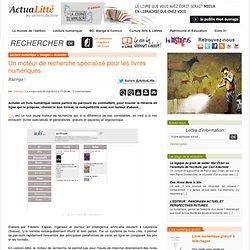 Un moteur de recherche spécialisé pour les livres numériques