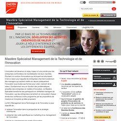 Mastere Spécialisé Management de la Technologie et de l'Innovation
