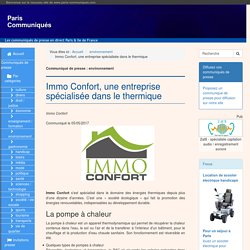Immo Confort, une entreprise spécialisée dans le thermique - Paris Communiqués