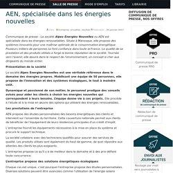 AEN, spécialisée dans les énergies nouvelles