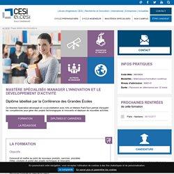 Mastère Spécialisé® Manager l'Innovation et le Développement d'Activité