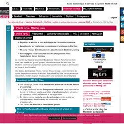 Big Data – Mastère Spécialisé® de gestion et analyse des données massives-École d'Ingénieurs : Télécom ParisTech