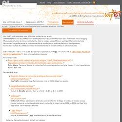 Plus de 80 outils spécialisés pour différentes recherches sur le web