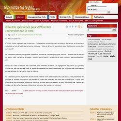 80 outils spécialisés pour différentes recherches sur le web