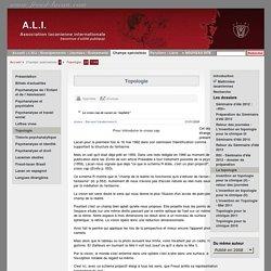 """A.L.I. : Champs spécialisés / Topologie / Le cross cap de Lacan ou """"asphère"""""""