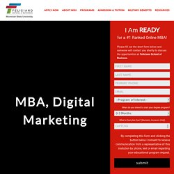 MBA Specialising in Digital Marketing, Online, Accredited