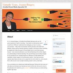 Joanne Burgess Certified Social Media Specialist Ontario