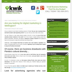 Contact For Digital Marketing in Wellington - Kwik Advertising & Sales