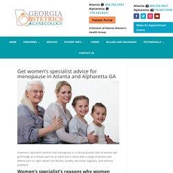 Women's specialist care for women in menopause in Atlanta and Alpharetta