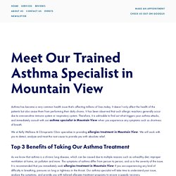 Allergies Treatment Mountain View, CA — Kelly Wellness & Chiropractic