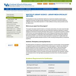 Master of Library Science - Library Media Specialist (MLS/LMS)