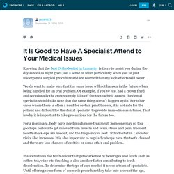 It Is Good to Have A Specialist Attend to Your Medical Issues