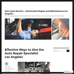 Effective Ways to Hire the Auto Repair Specialist Los Angeles – Euro Auto Service – Automotive Repair and Maintenance Los Angeles