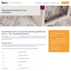 Planning Permission Advice from Expert Licensing Lawyers
