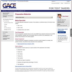 Media Specialist Preparation Materials: GACE