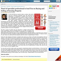 Panel of specialist professional to lead You on Buying and Selling of housing Property