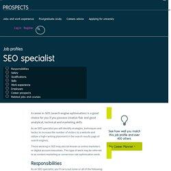 SEO specialist job profile