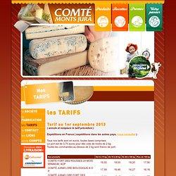 Comté Monts Jura - Spécialiste de la vente de fromages et de Comté du Jura depuis plus de 30 ans - Vente en ligne de Comté, Morbier, Bleu de Gex, Raclette, Bon Grivois, Beaufort, Mont d'Or, Cancoillotte, Miel - Fromageries Arnaud