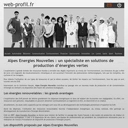 Alpes Energies Nouvelles : un spécialiste en solutions de production d'énergies vertes
