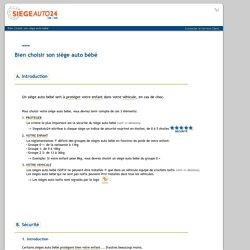 Siège auto bébé -Les conseils du spécialiste siège auto bébé: SiegeAuto24.