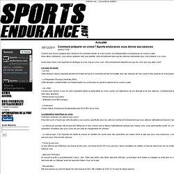 Sports-endurance.com: Les spécialistes de l'entrainement [Comment préparer un cross? Sports-endurance vous donne ses séances]
