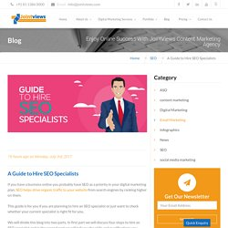 A Guide to Hire SEO Specialists [4 Steps Involved]