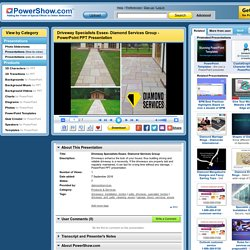 Driveway Specialists Essex- Diamond Services Group PowerPoint presentation