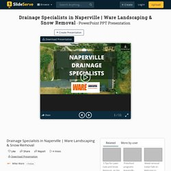 Drainage Specialists Naperville