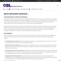 Affordable Data Recovery Services in Singapore