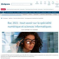 Bac 2021 : en quoi consiste la spécialité numérique et sciences informatiques