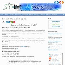 La spécialité NSI et les formations post-bac - SIF