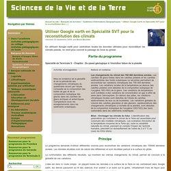 Utiliser Google earth en Spécialité SVT pour la reconstitution des climats