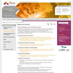 Ingénieur de spécialité / Formation Continue / Accueil - Ecole Nationale Supérieure d'Arts et Métiers - ENSAM