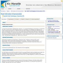Spécialité Veille Technologique et Innovation (VTI)