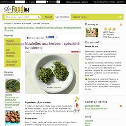 Recette de Boulettes aux herbes : spécialité tunisienne