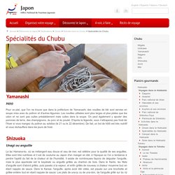 Spécialités du Chubu