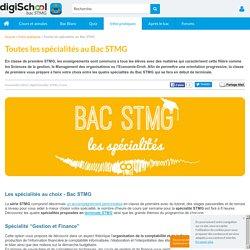 Spécialités du Bac STMG - Mercatique, SIG, RHC, Gestion&Finance