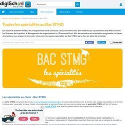 Spécialités du Bac STMG - CFE, Mercatique, CGRH, GSI