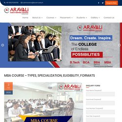 MBA Course – Types, Specialization, Eligibility, Formats