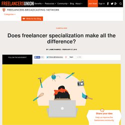Does freelancer specialization make all the difference?