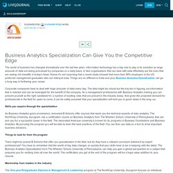Business Analytics Specialization Can Give You the Competitive Edge: nculeadership